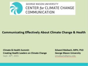 Communicating Effectively about Climate Change and Health